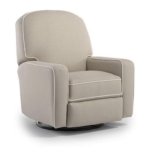 Blain Swivel Glider Recliner With Contrast Cording Babys