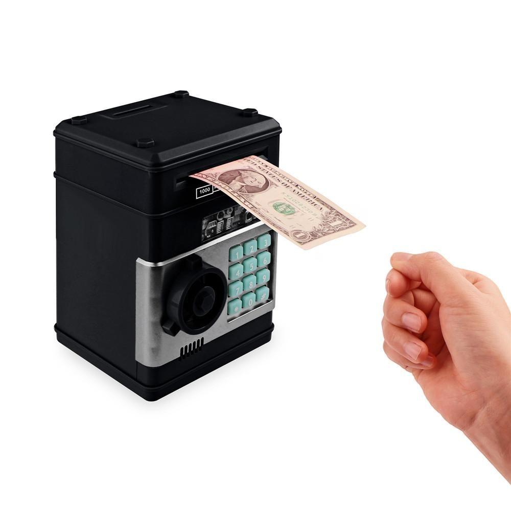 Electronic Pig Bank ATM Password Money Box Cash Coins Saving Box ATM Bank Safe
