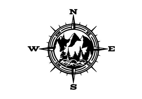 PNW Vinyl Decal, Mountain Decal, Car Decal, Outdoor Decal