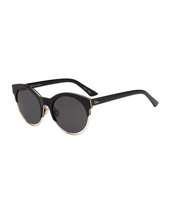 cf59a02f1f1a Siderall 1 Metallic-Trim Cat-Eye Sunglasses by Dior at Bergdorf Goodman.