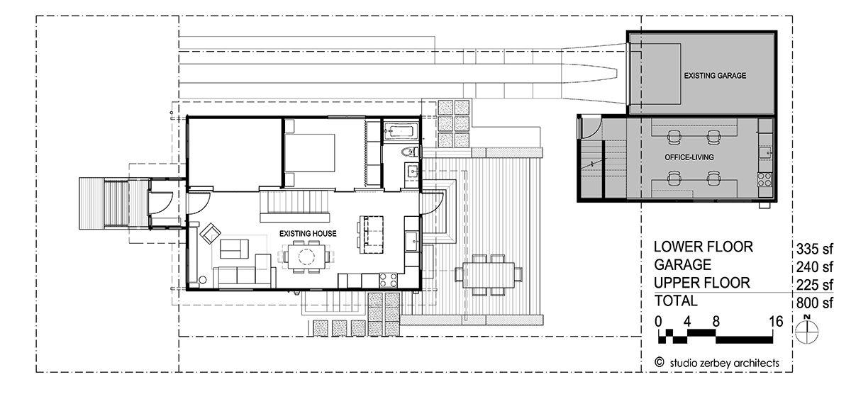 Lower Floor Plan Seattle DADU Detached accesory dwelling unit Studio ...