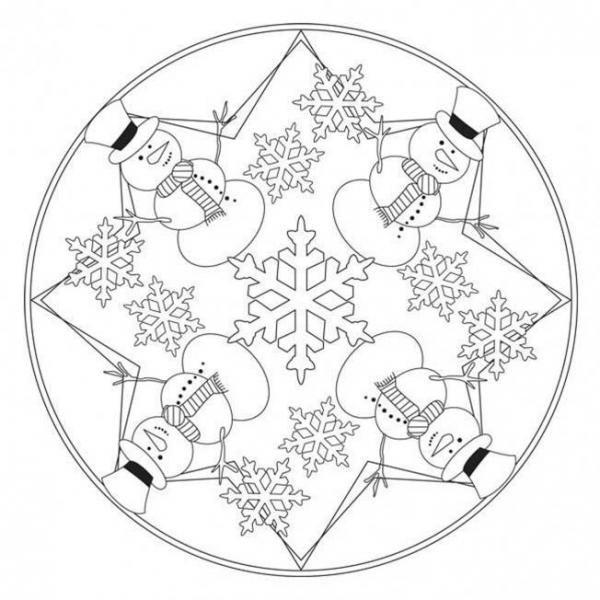 Mandala D 39 Hiver Mandala Winter Mandalas Kinder Mandala Ausmalen