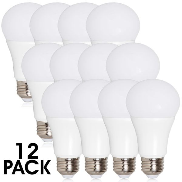 A19 Led Light Bulb 800 Lumens 10 Watts Warm White 12 Pack White Light Bulbs Led Light Bulb Light Bulb