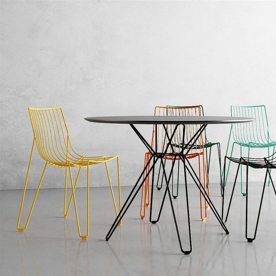 Elegant And Stackable Steel Wire Tio Chair Design By Chris Martin