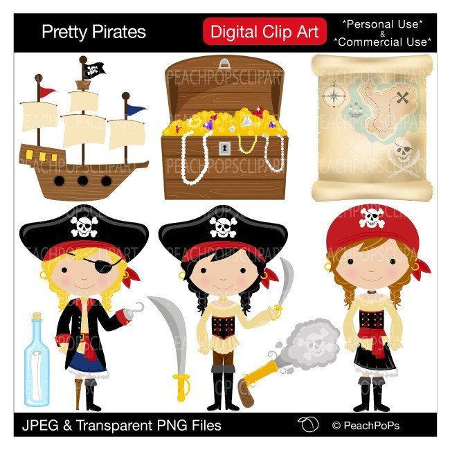 cute girls pirate clipart pirate clip art pirate digital clipart red rh pinterest com Pirate Clip Art cute pirate clipart