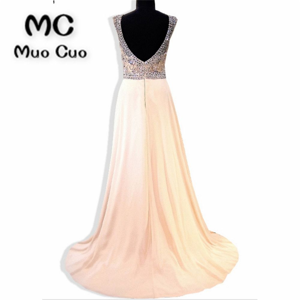 bling prom dresses long crystals beaded chiffon vestidos de
