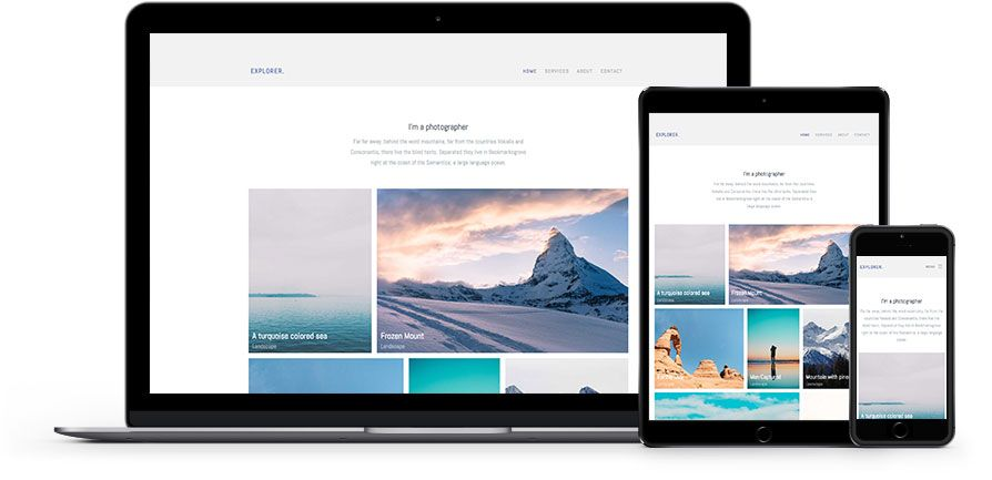 Explorer Is A Free Photography Website Template Using