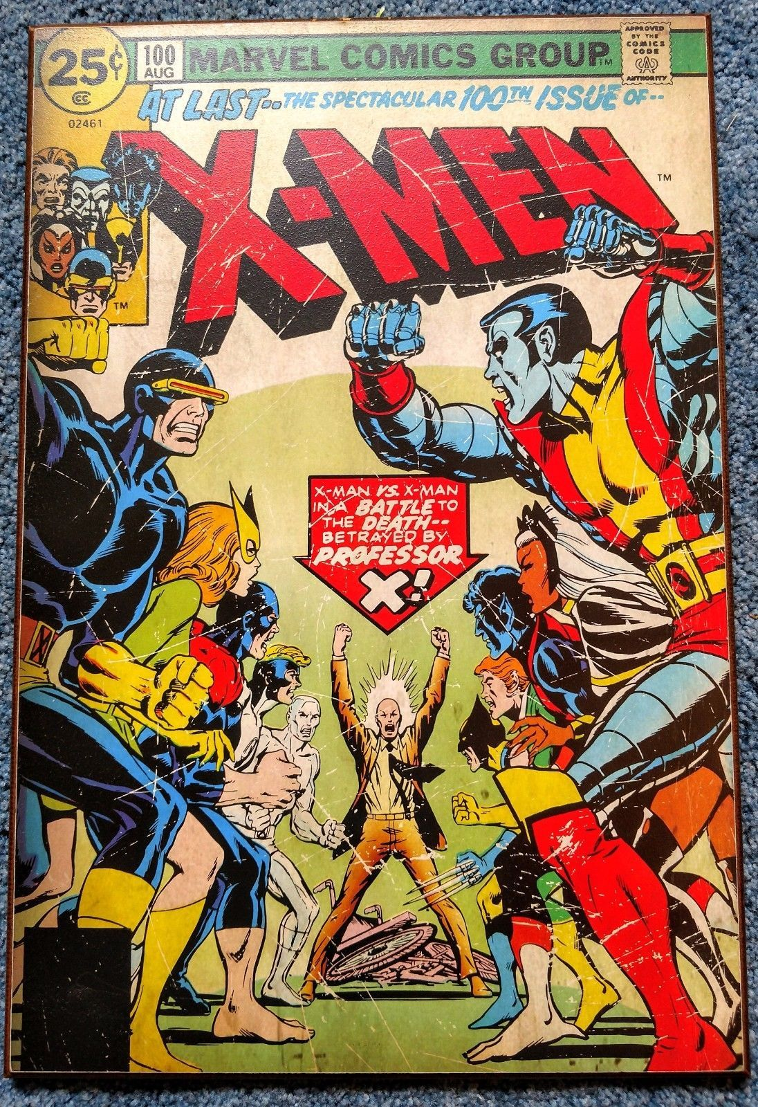 art X-men 100th Issue Wall Art Wood *RARE* great condition please ...