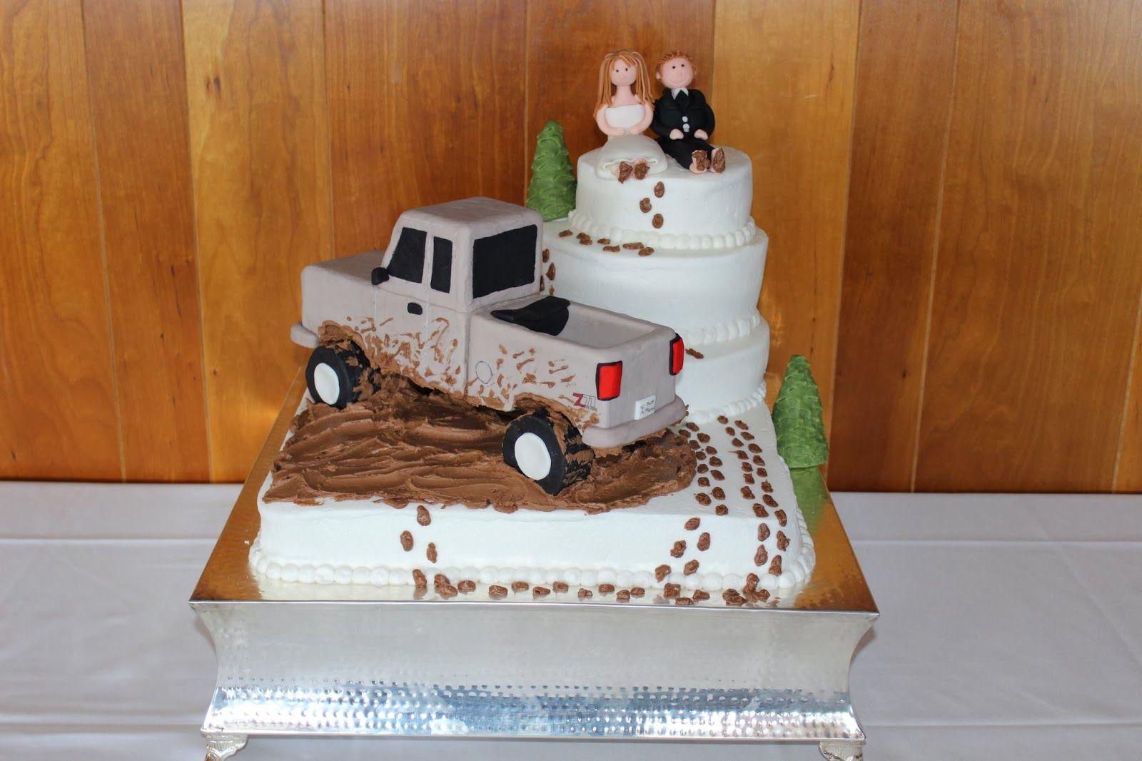 Mudding Grooms Cake  Mud Truck Wedding Cakes  Cake