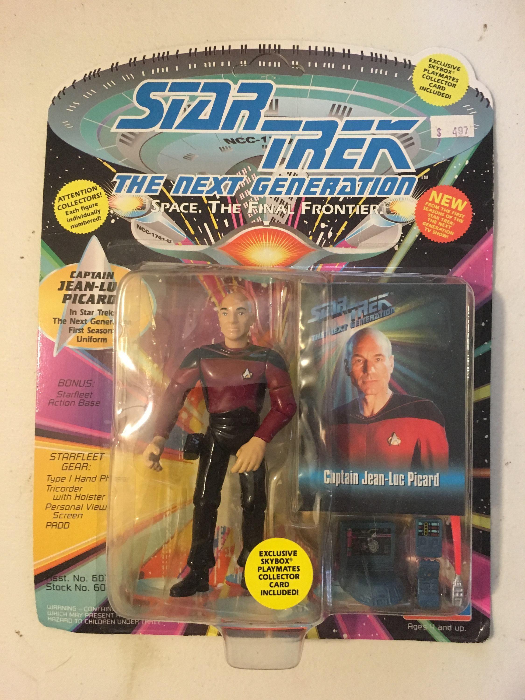 53ec0f4e56ea7 Captain Jean-Luc Picard Vintage Star Trek Action Figure Card 5