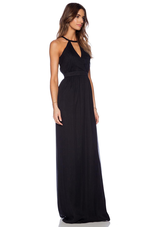 Jay godfrey dallenbach backless gown in black vestido dama boda