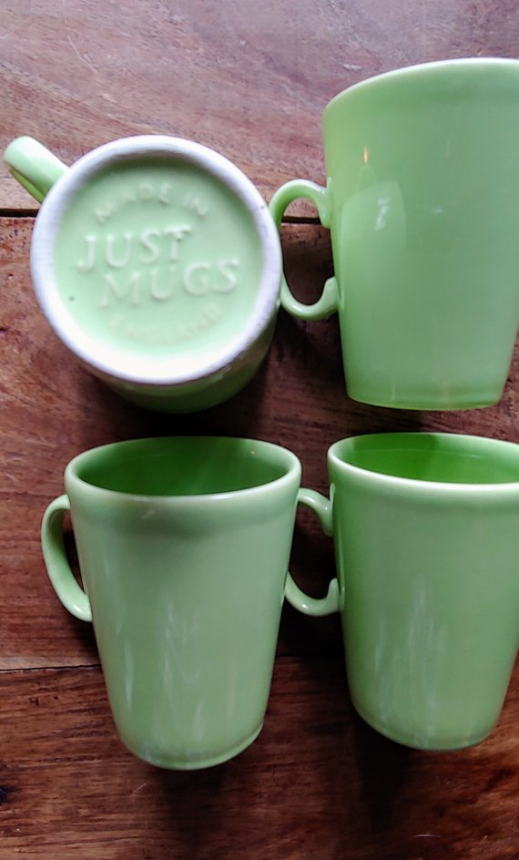 Mugs Green In Vintage Neon MugsMade England Just mnOPwvyN80