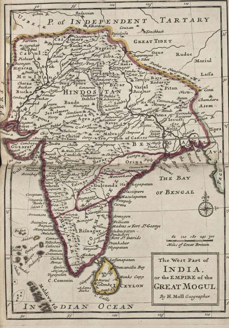 India Historical Map Mogul Historical Maps India World Map Map