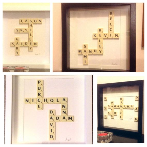 Personalised Scrabble wall art. Wedding gifts by MySilverPenguin ...