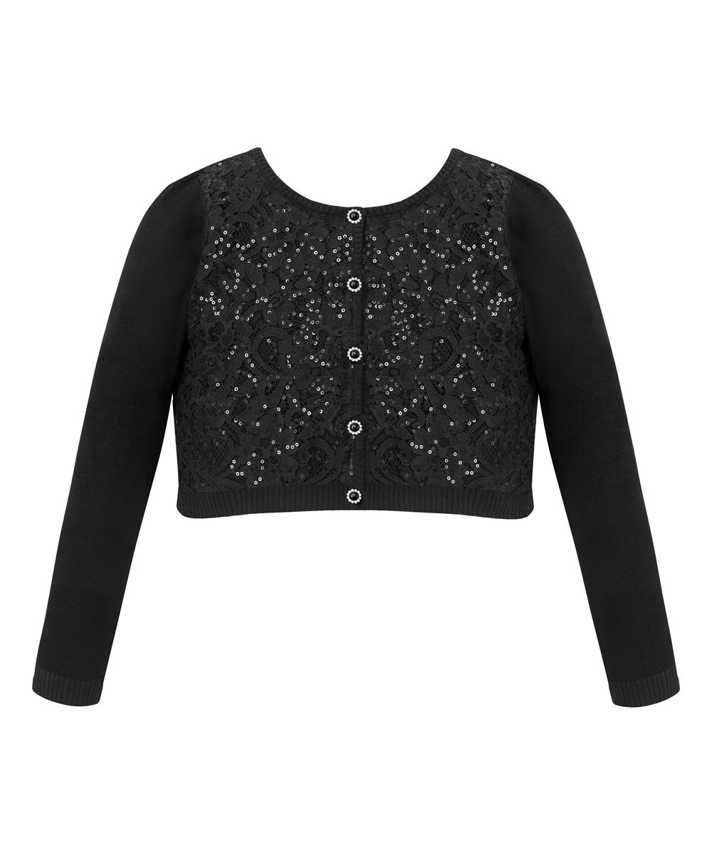 Black Sequin Rhinestone Sweater Cardigan - Toddler & Girls | Products