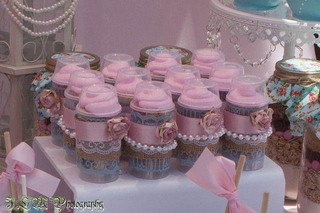 Pretty push up pops at a Shabby Chic Baking Party #shabbychic #bakingparty