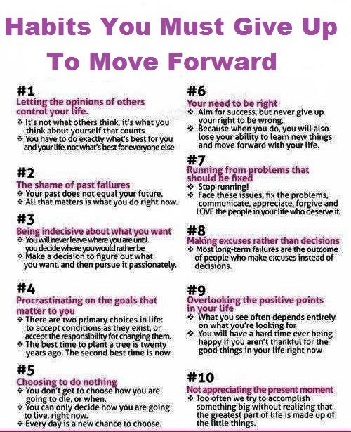 Move Forward - ex's meds...