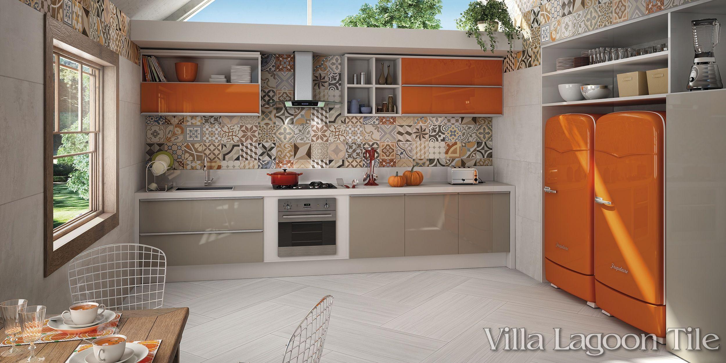 patchwork caramelo café | villa lagoon tile | kitchen | pinterest
