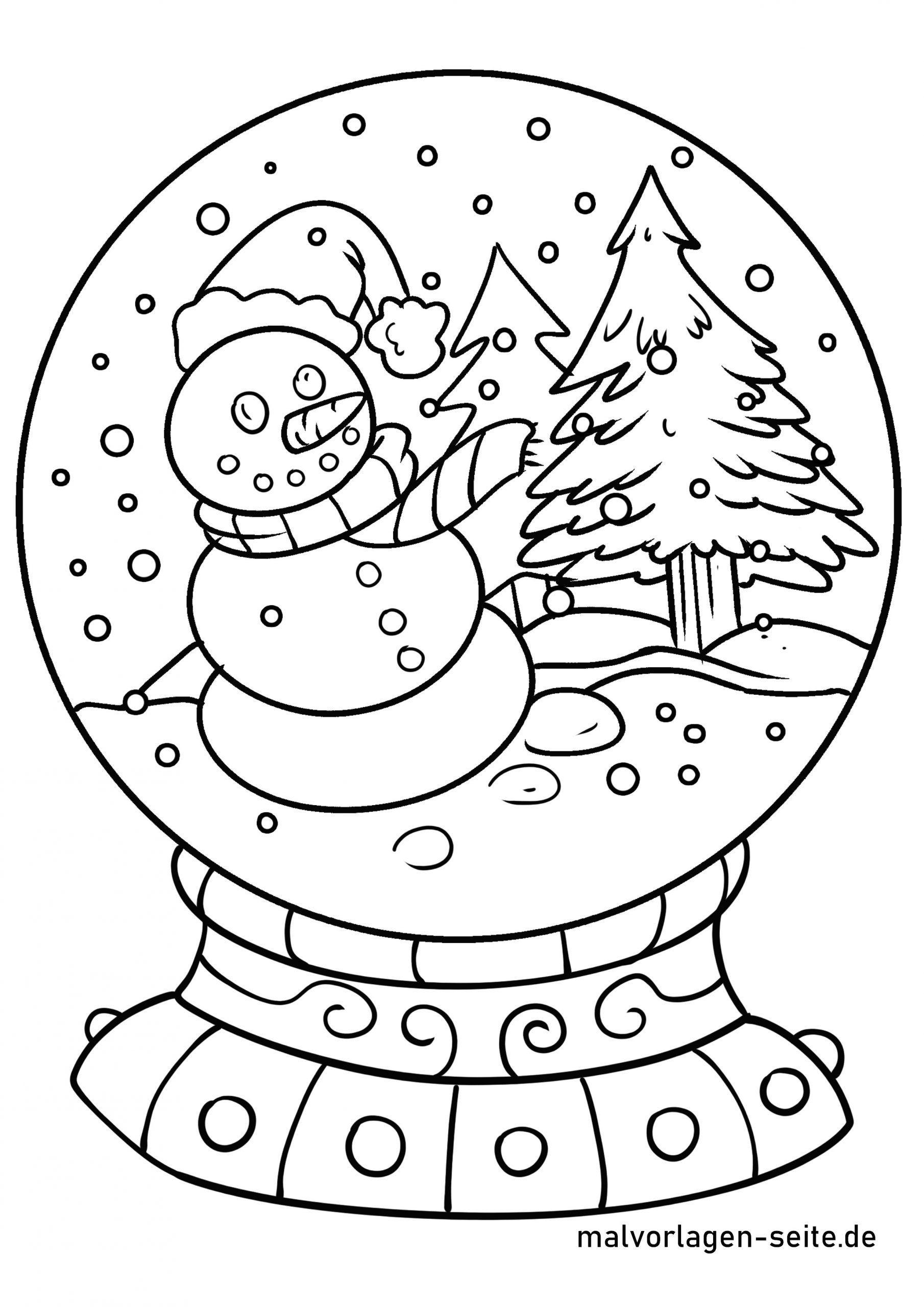 Malvorlagen Schneekugel Schneekugel Malvorlagen Vorlagen