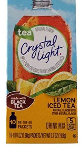 Crystal Light On The Go Drink Mix Lemon Tea 10 Count 0 7 Ounces Pack Of 6 You Can Find Out More Detai Peach Ice Tea Iced Tea Drinks Crystal Light Drinks