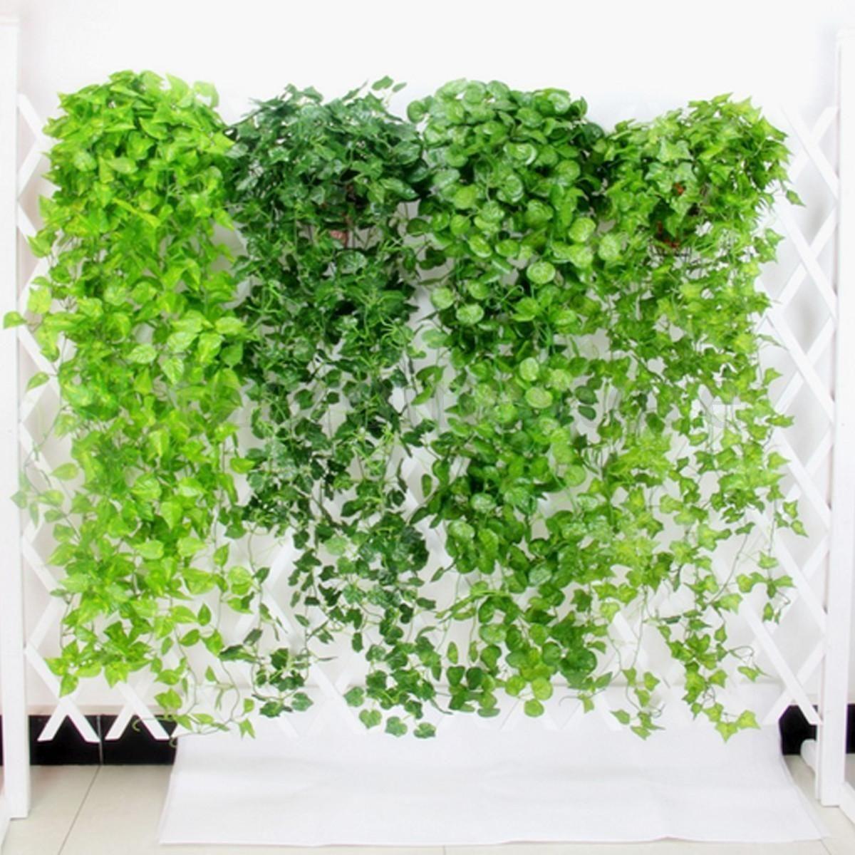 1/5/10X Silk Ivy Artificial Vines Leaf Plant Hanging Café Shop ...