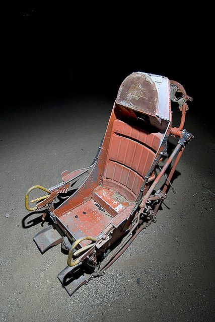 ejection seat....looks like a skeleton seat to me...