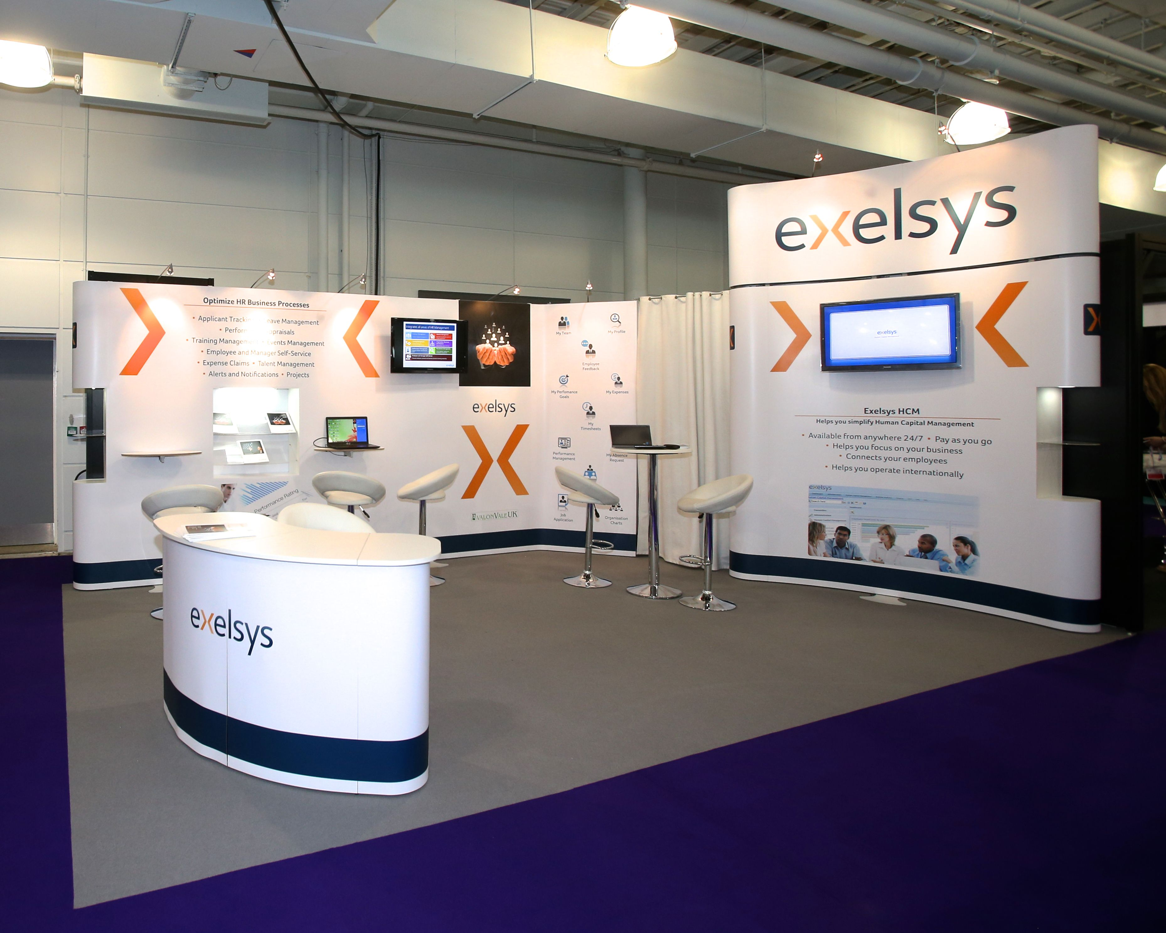 Modular Exhibition Stands Out : Modular exhibition stand for exelsys by quadrant design at