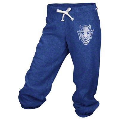 Duke Blue Devils adidas Blue Women's Big Better Logo Cropped Capri Pants
