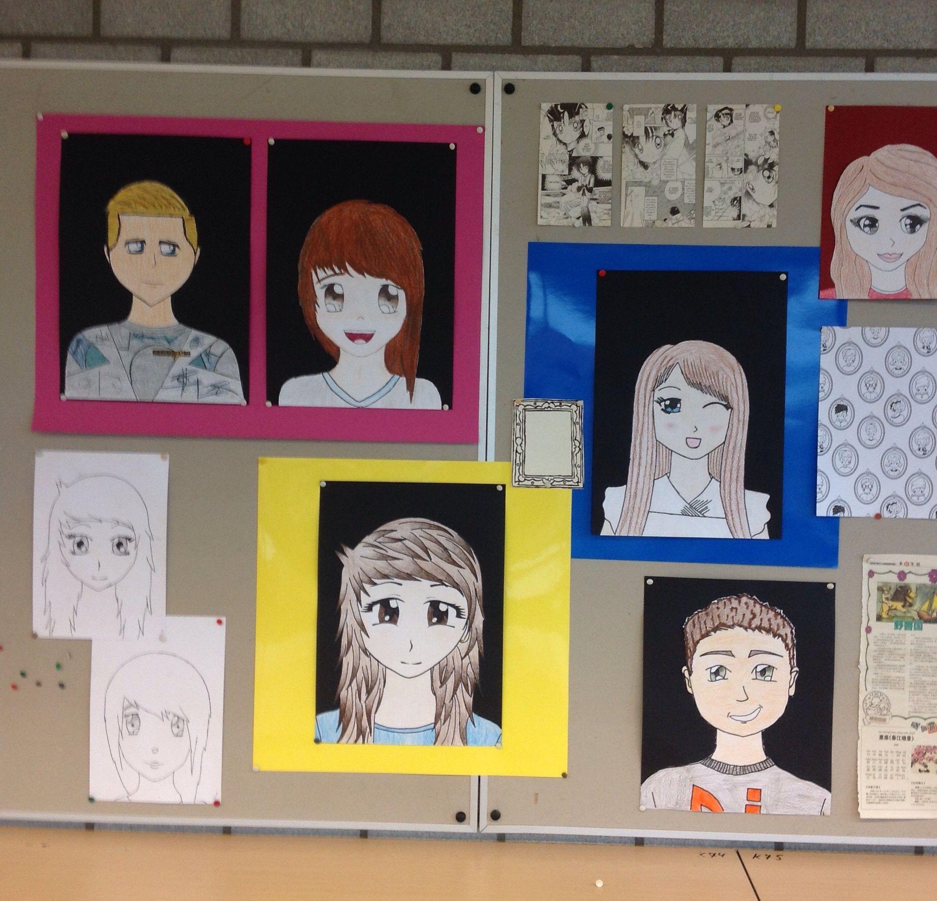 Manga Selfportrait, 2vmbo, Corlaer College Nijkerk