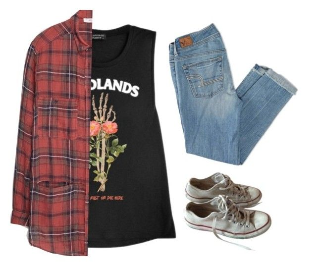 """2812."" by a-colette ❤ liked on Polyvore featuring American Eagle Outfitters, MANGO, Converse, women's clothing, women, female, woman, misses and juniors"
