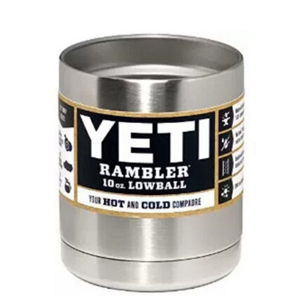 10 oz Yeti Rambler with lid 10oz Lowball Stainless Steel Tumbler Cup Insulation Cup Bilayer Stainless Steel Tumbler Mug