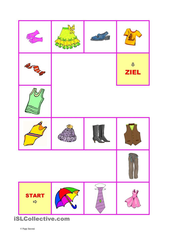 Kleidung-Brettspiel-2 | Kleidung, Deutsch und Sprachförderung
