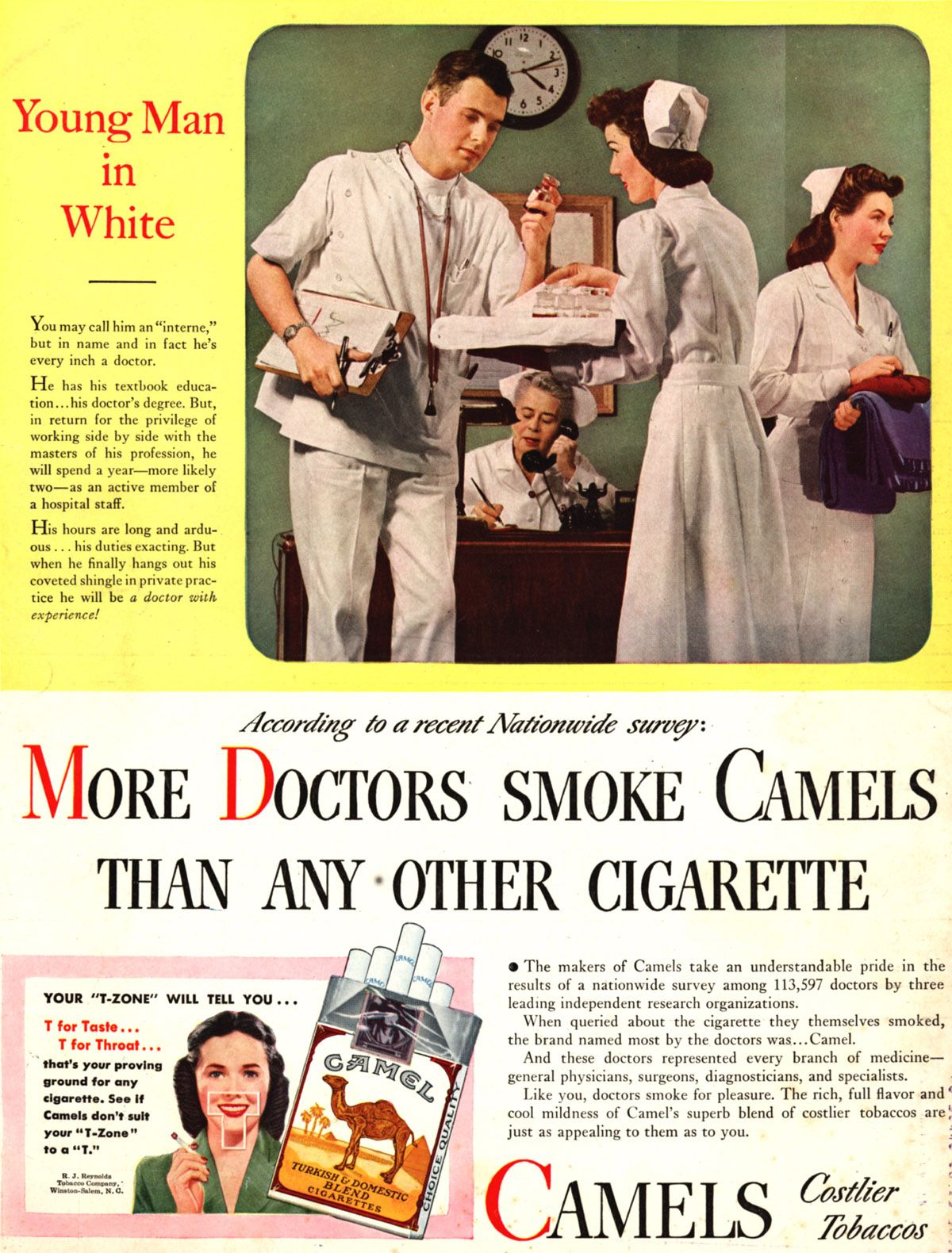 Image result for doctor smoking camel old ads