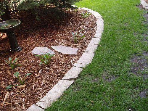Natural stone edging hardscape pinterest natural for Garden edging stone designs