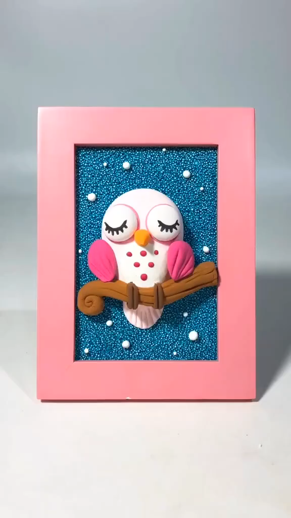 Creative clay DIY - handmade DIY cute owl hand