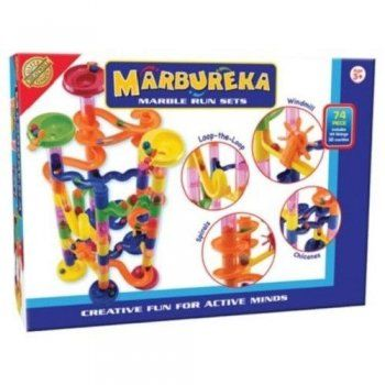 Cheatwell Games Marbureka Bumper Marble Run 105 Piece