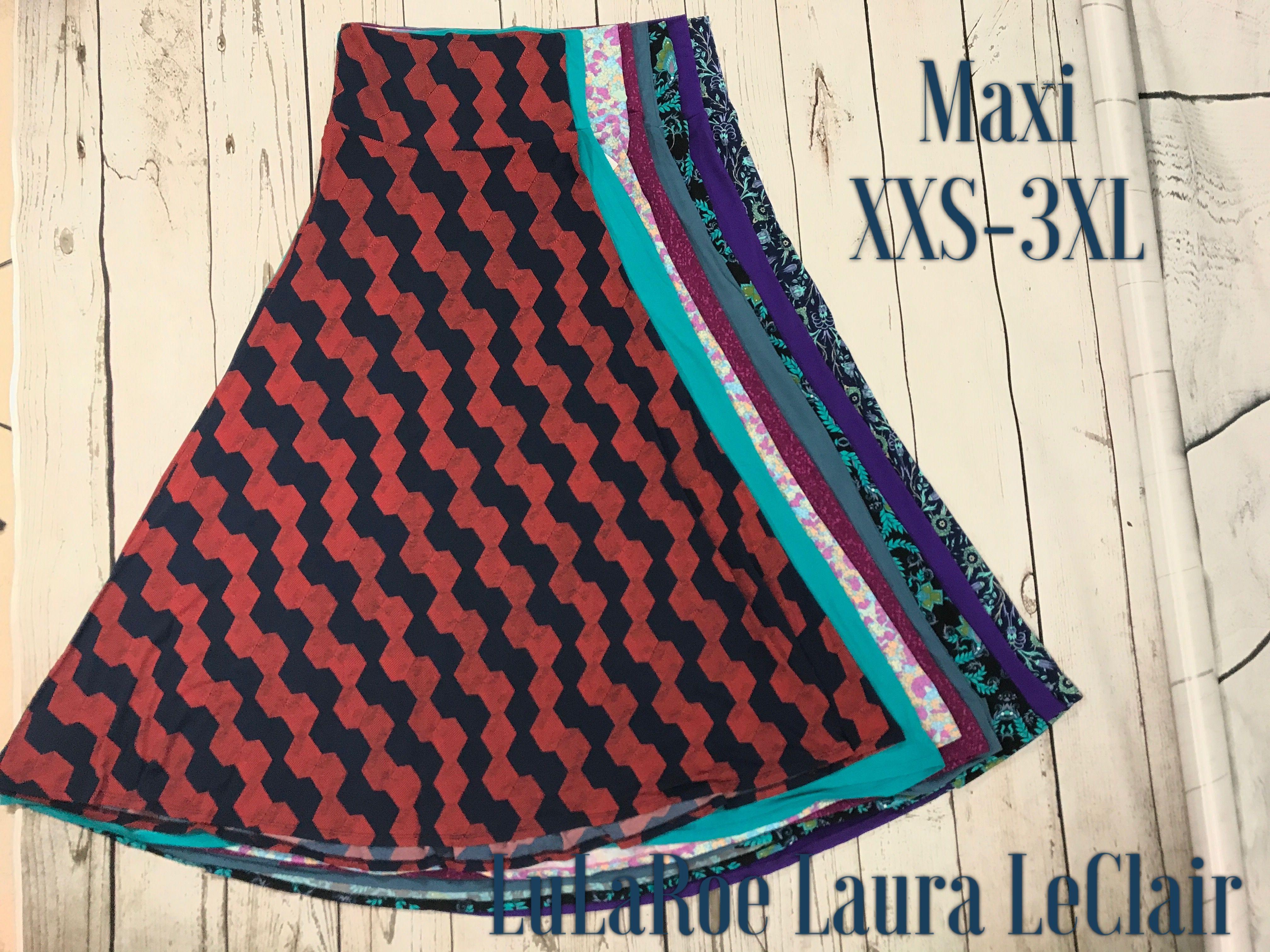 0be0ef4c583 LuLaRoe maxi skirt sizes xxs -3xl size comparisons