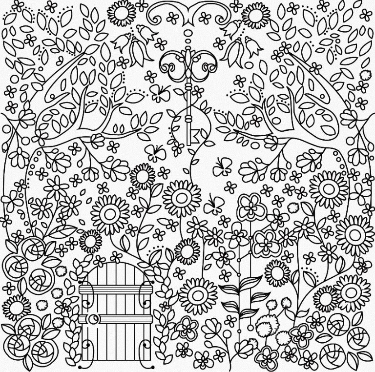 Garden Coloring Page Colorfy App Garden Coloring Pages Flower Coloring Pages Cute Coloring Pages
