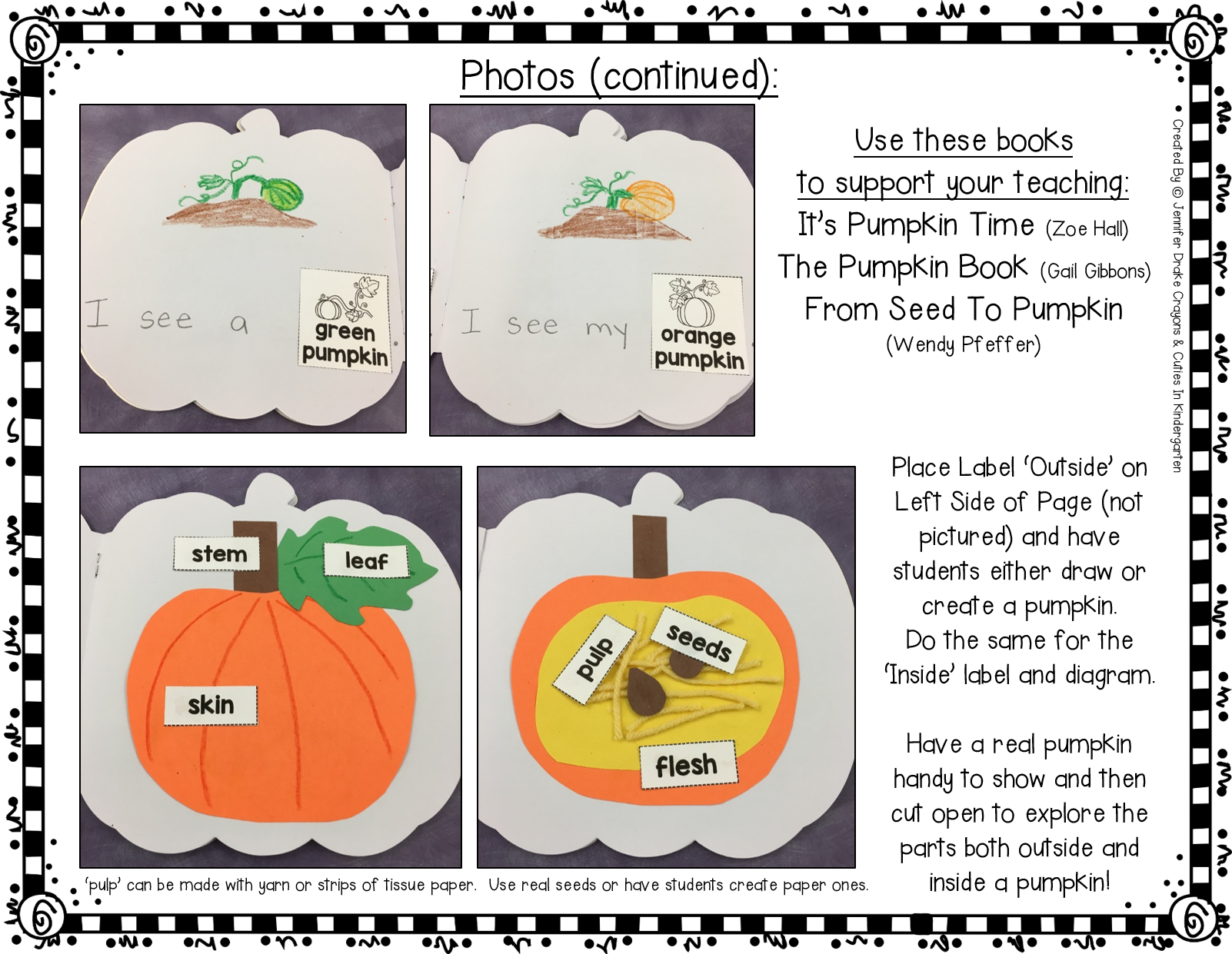 small resolution of pumpkin shape book science shape books spot books pumpkin also created a diagram of a pumpkin with labels to show the inside