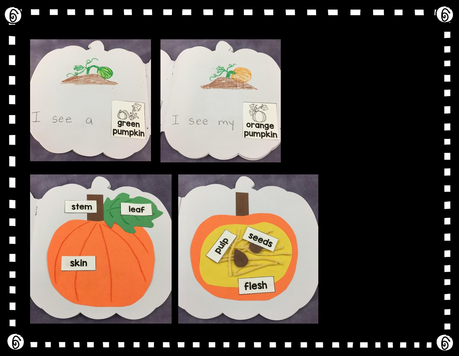 pumpkin template kindergarten  Pumpkin Shape Book | Pumpkin books, Shape books, Pumpkin
