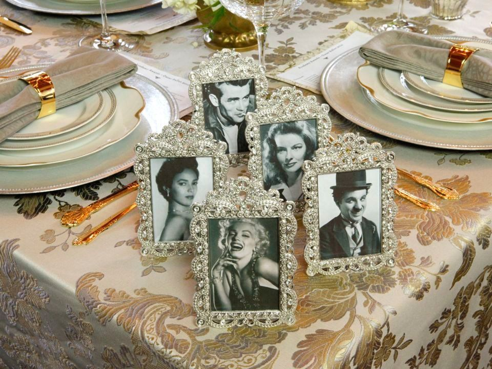 Golden Age of Hollywood Party - Tablescape & Floral Design #hollywoodgoldenage Golden Age of Hollywood Party - Tablescape and Floral Design Ideas for Oscar Party, Wedding or Birthday Soiree by Tori Avey #hollywoodgoldenage