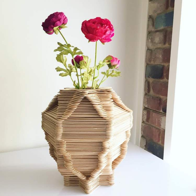 How To Make A Popsicle Stick Vase Girl The Word Projects To