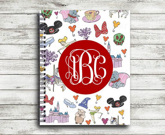 Monogrammed Character Collage Spiral Notebook   Personalized Spiral Notebook   Autograph Notebook  ►►►PLEASE PROVIDE THE FOLLOWING AT CHECKOUT IN THE NOTES BOX◄◄◄  • FONT (If not provided, we will use script for monogram or sweetheart for name) • FONT COLOR (If not provided, we will use white) • CIRCLE FRAME COLOR (If not provided, we will select one that matches the design you selected) • MONOGRAM OR NAME (Please provide initials in the order they are to appear)  ►►►ABOUT OUR JOURNALS◄◄◄  •…