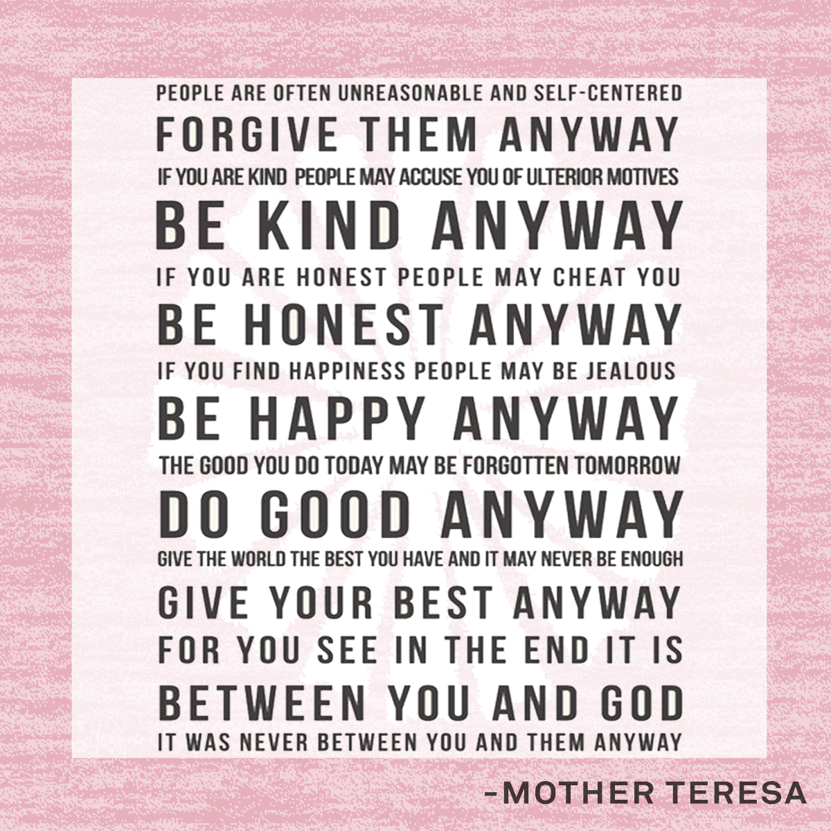 People are often unreasonable google search quotes pinterest inspirational mother teresa quote do it anyway art print unique christmas gift for mom best friend grandparents thecheapjerseys Choice Image