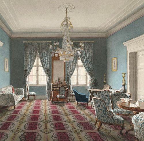 Eduard Gaertner The Blue Salon 1848
