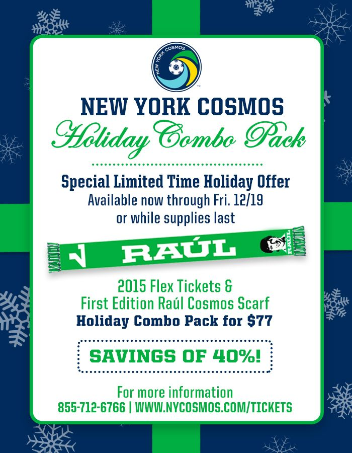 Freebie scarf for NY Cosmos fans