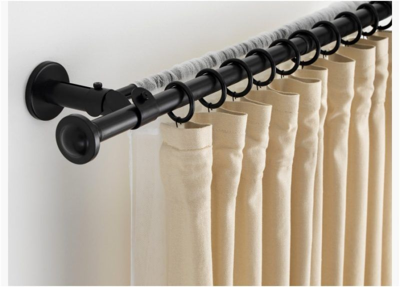 Magnetic Curtain Rod Brackets Double Curtains Hanging Curtain Rods Double Curtain Rod Set
