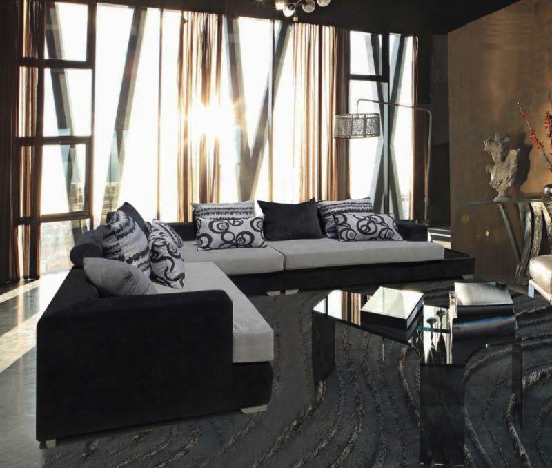 DIVANI SOGGIORNO DIVANI ANGOLARI DIVANO SALOTTO MEGA SOFA TESSUTO ANGOLARE    Cu0026G Home Design