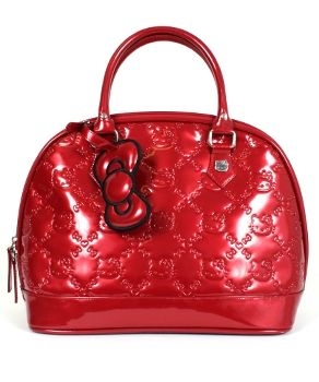 14ec1898e189 HELLO KITTY TANGO RED PATENT EMBOSSED TOTE LOUNGEFLY OFFICIAL WEBSITE  70.00