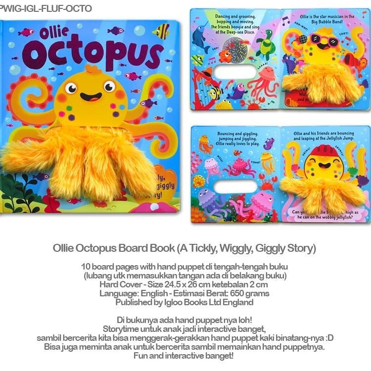 Ollie Octopus Board Book A Tickly Wiggly Giggly Story Di